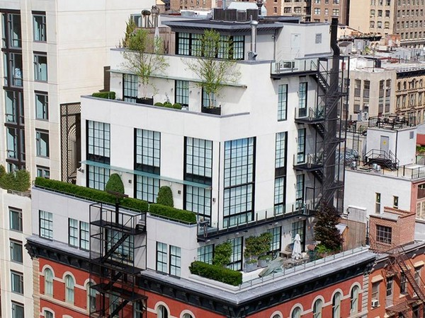 Five story tribeca penthouse for sale at 28 million for Nyc penthouse for sale
